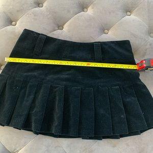 Juicy couture jeans black velvet skirt size L